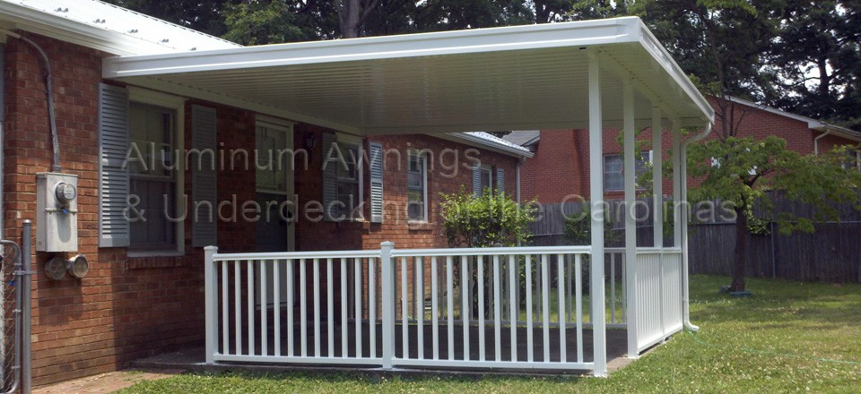 Hickory Awnings Aluminum Awnings Installation For Decks